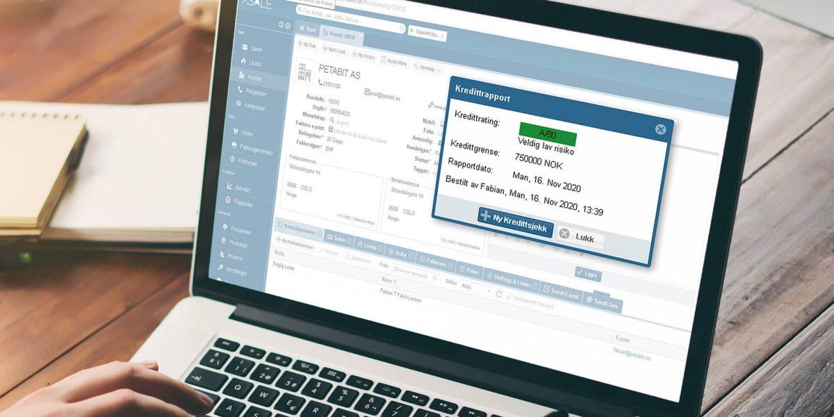 Kredittrating: Med Creditsafe integrert i Xsale, får kundene ved et museklikk dagsfersk kredittinformasjon med en fargekodet kredittrating i tillegg til en kredittramme. Integrasjonen effektiviserer arbeidsprosessen. Slik kan bedriftene selge til flere, ha kontroll på økonomien, og i mindre grad si nei. Foto: Adobe Stock